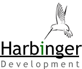 Harbinger development logo green