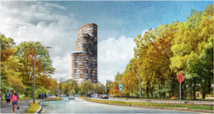 2 charlesgate west residential development project fenway boston trans national properties belkin krebs