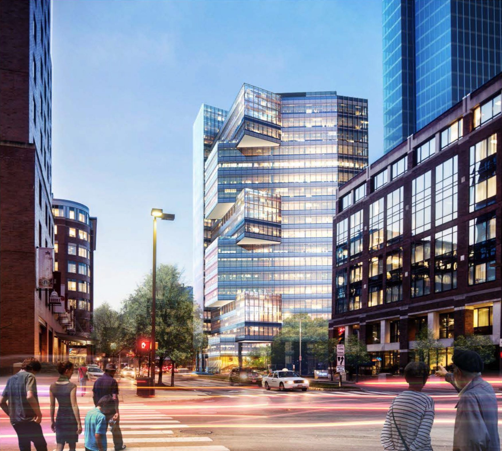 145 broadway kendall square office retail space for lease cambridge boston properties mxd development project district pickard chilton stantec rendering