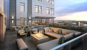 Resident roof deck