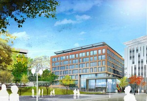 105 west first street proposed new office building space south boston fort point cv properties stantec
