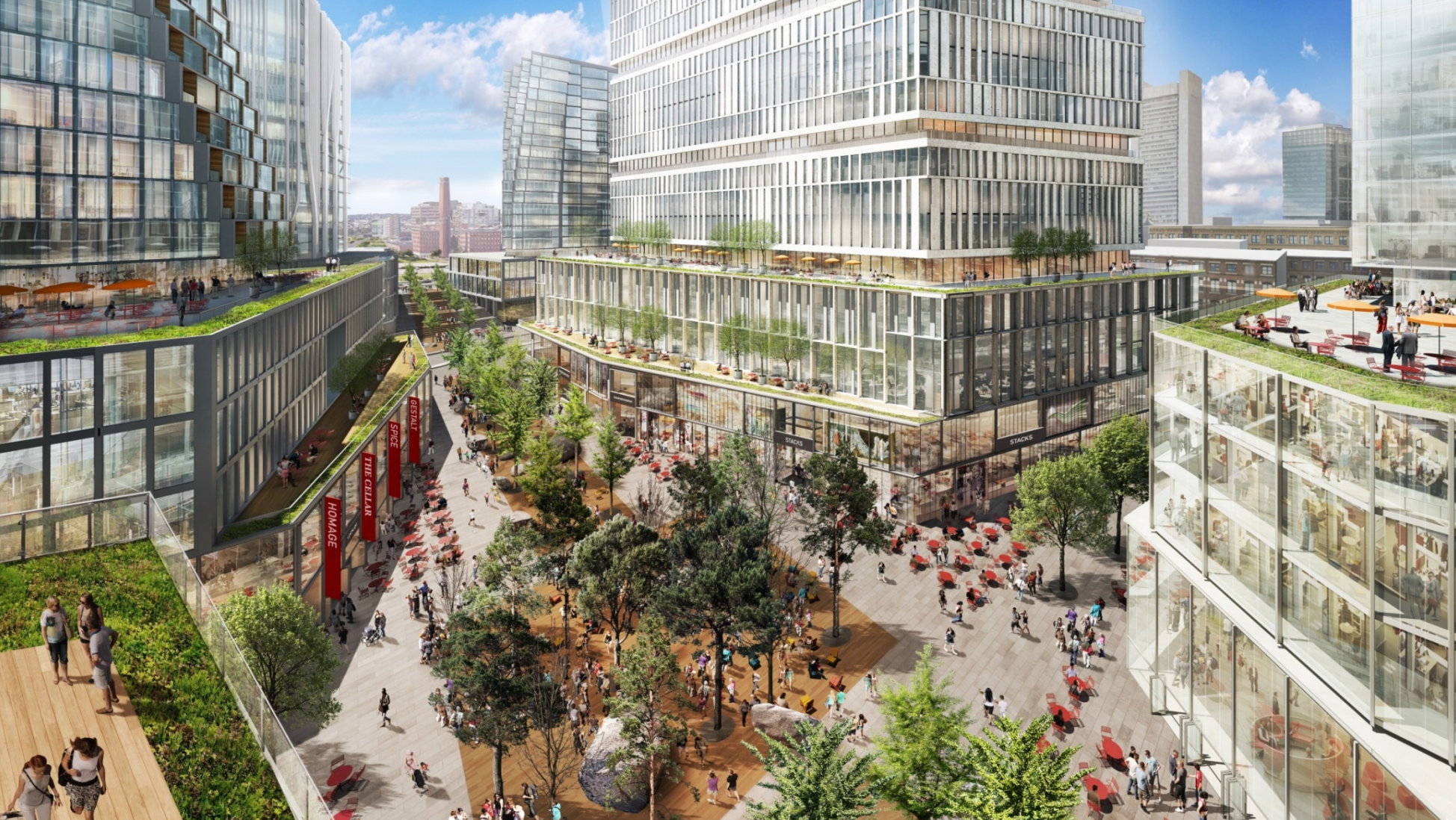 A new blueprint for the seaport active uses envisioned in updated seaport square plan