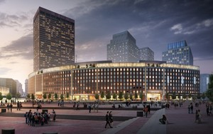 Center plaza office retail development government center financial district boston synergy investments acquisition