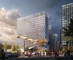 88 seaport boulevard new class a office retail building ws development oma architecture seaport district boston