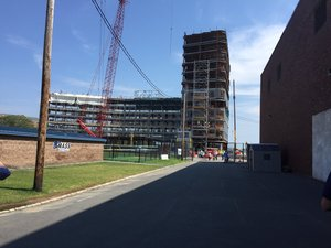Umass boston first residence hall construction
