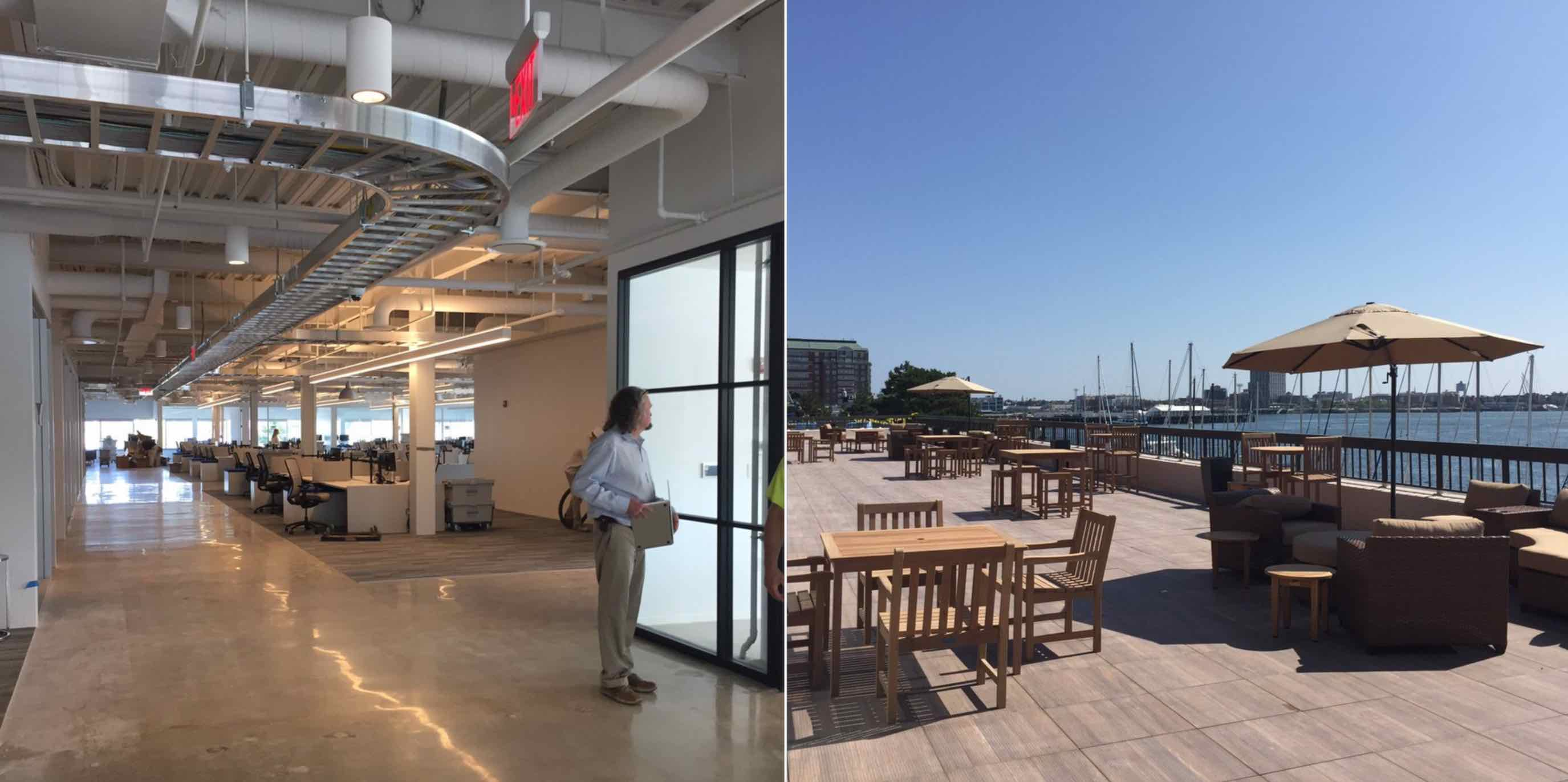 Constitution wharf waterfront boston office space now leasing