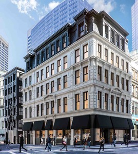 One milk street office retail space for lease repositioning renovation restoration development downtown crossing boston midwood investment and development gensler shawmut design and construction boston realty advisors
