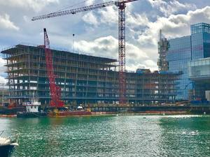 Pier 4 development boston seaport district waterfront luxury condominiums for sale office space