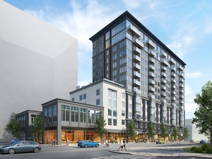 Alloy at assembly row residential condominiums marriott boutique hotel retail somerville mbta orange line federal realty investment trust real estate development procon construction street works studio design