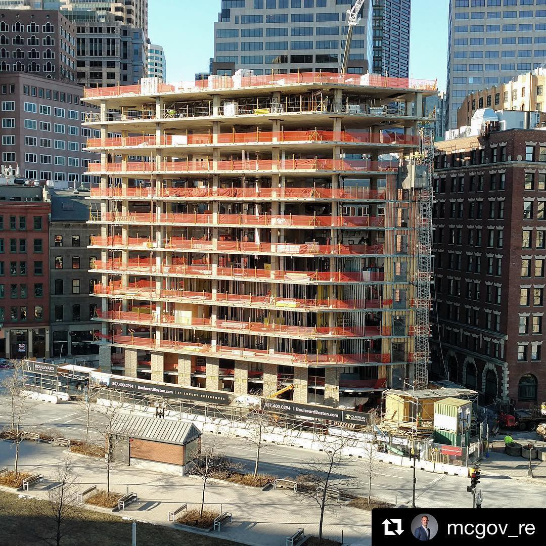 Boulevard on the greenway downtown boston new construction luxury condos