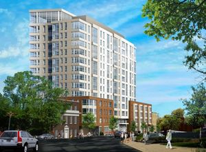 Serenity 105a south huntington avenue mission hill jamaica plain cedar valley development llc longwood group suffolk construction j derenzo companies s f concrete prellwitz chilinski associates architectural rendering