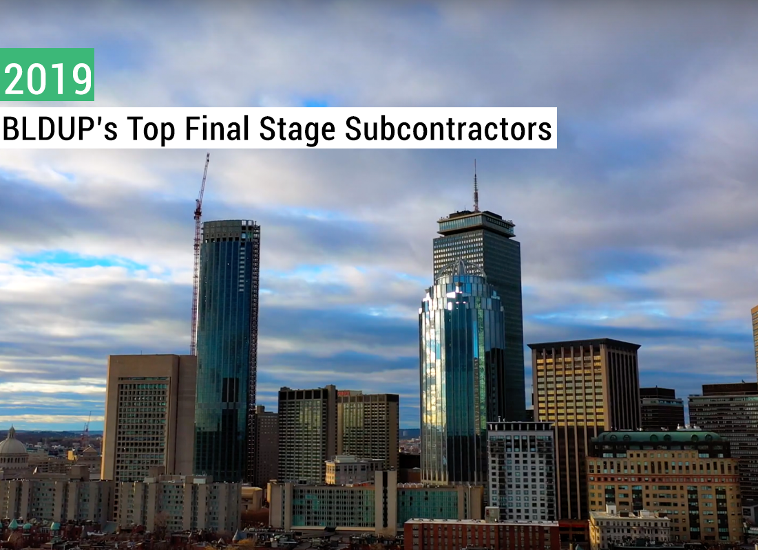 Bldup's top final stage subcontractors
