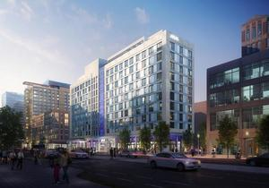 Yotel hotel south boston waterfront seaport district development boston global investors tishman construction