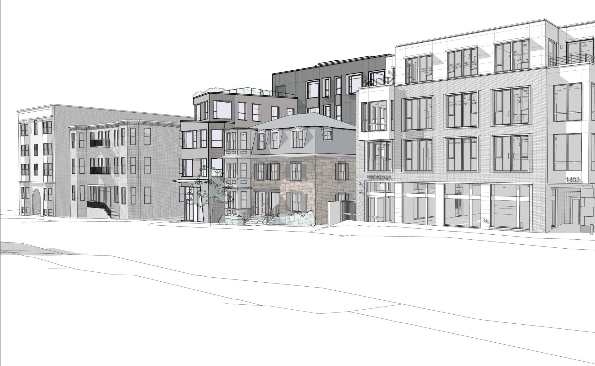 1470 tremont street savage properties residential retail mixed use development mission hill roxbury mbta orange line architect hacin associates rendering 3