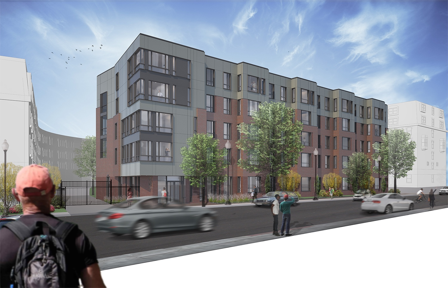 Douglass park expansion project south end roxbury housing residential hamilton company hacin associates rendering