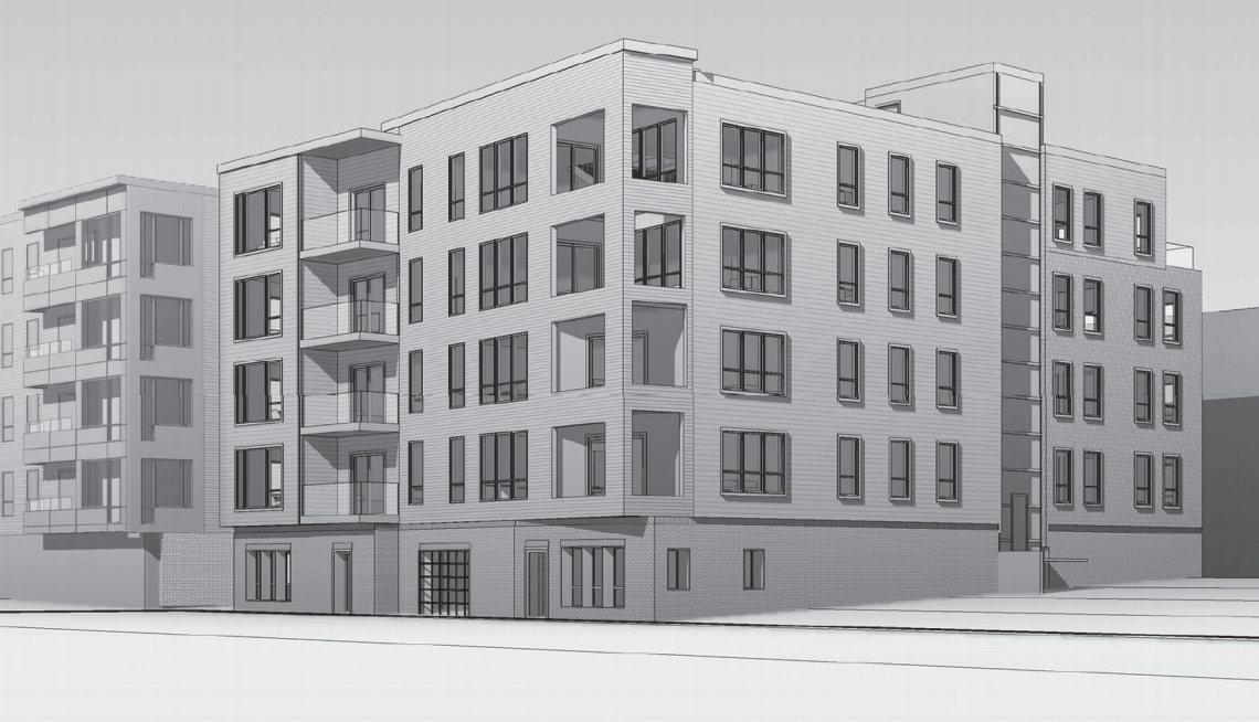 377 west first street proposed residential development south boston southie donald clancy worx architecture boston survey rendering