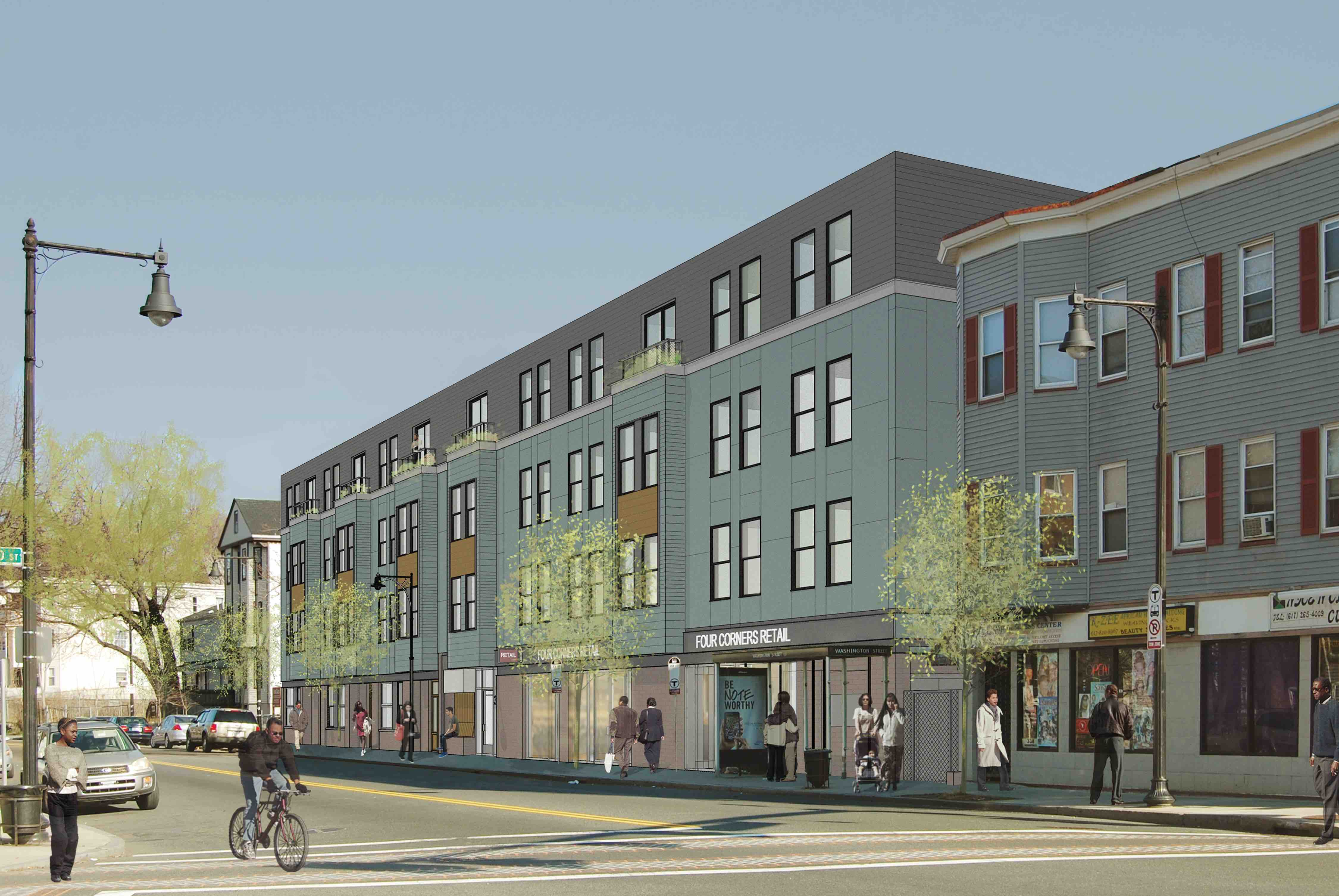 Upper washington mixed use affordable housing retail development vietaid utile four corners dorchester boston