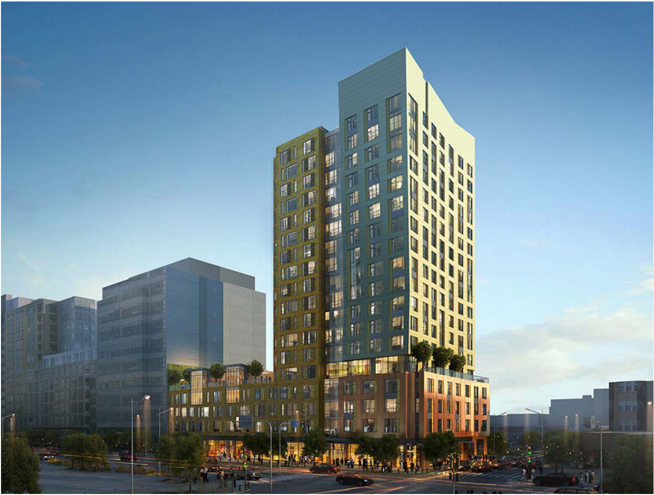 bldup  the harlo -  boylston street fenway boston residential retail real estate skanskausa commercial development construction project stantec