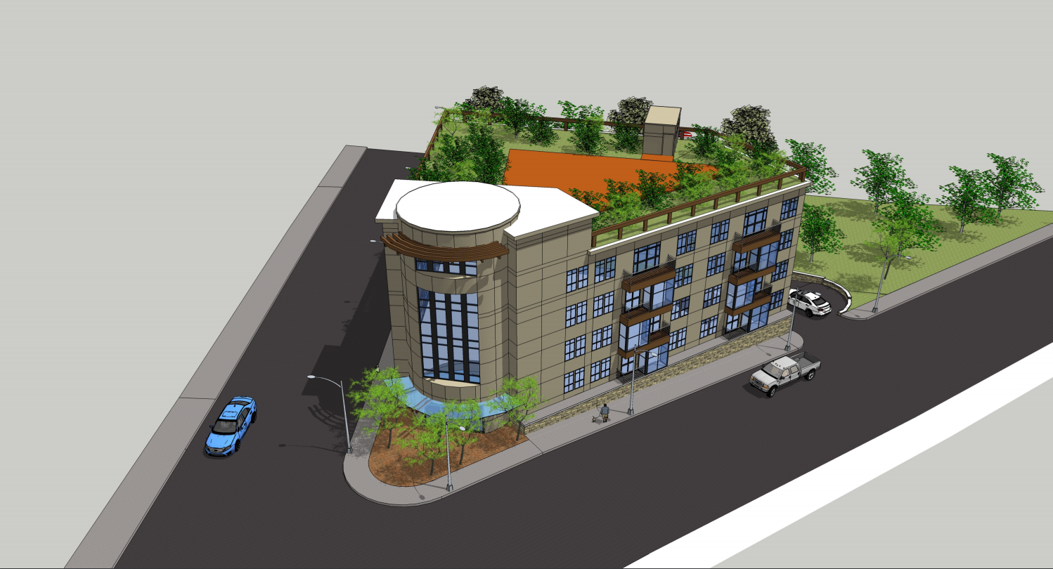 400 belgrade avenue west roxbury boston residential rental apartments development project john douros gas station nunes trabucco architects rendering