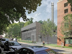 Tufts university new central energy power plant medford campus boston avenue construction project o%e2%80%99connor constructors j derenzo companies van zelm engineering leers weinzapfel associates architectural rendering