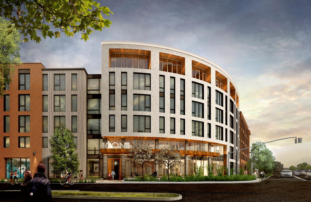The icon mount vernon company allston brighton 530 western avenue apartments residential development prellwitz chilinski architectural rendering