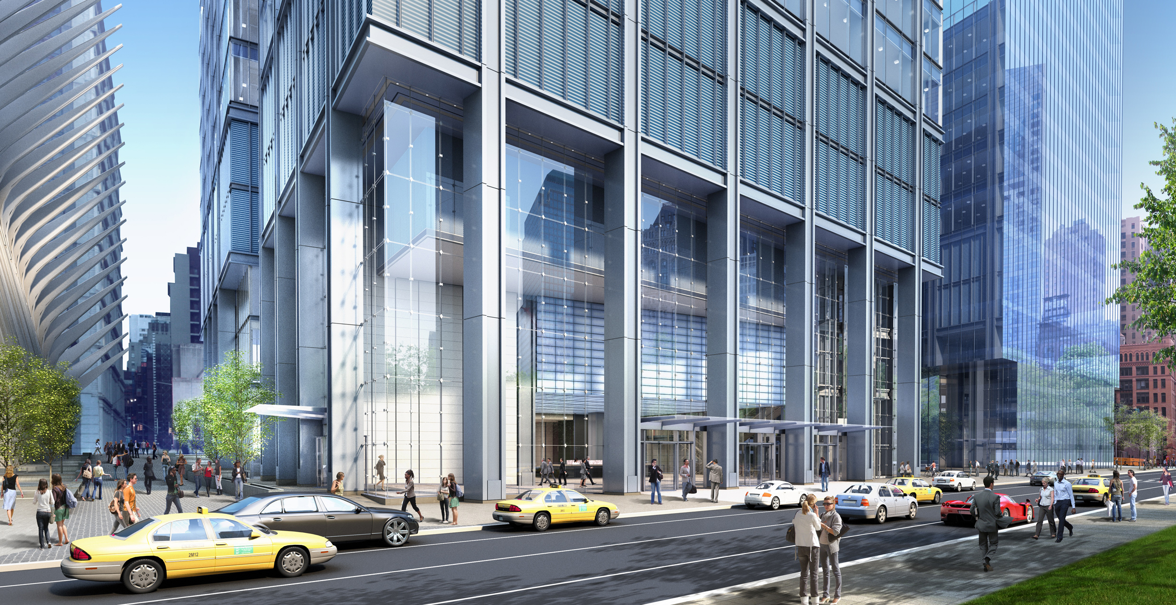 3 world trade center office tower new york city manhattan silverstein properties rogers stirk harbour partners architect rendering