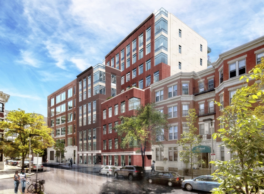 44 burbank street fenway boston symphony court phase two residential condominium development project catamount westland llc berkeley building company construction symmes maini mckee associates smma architectural rendering