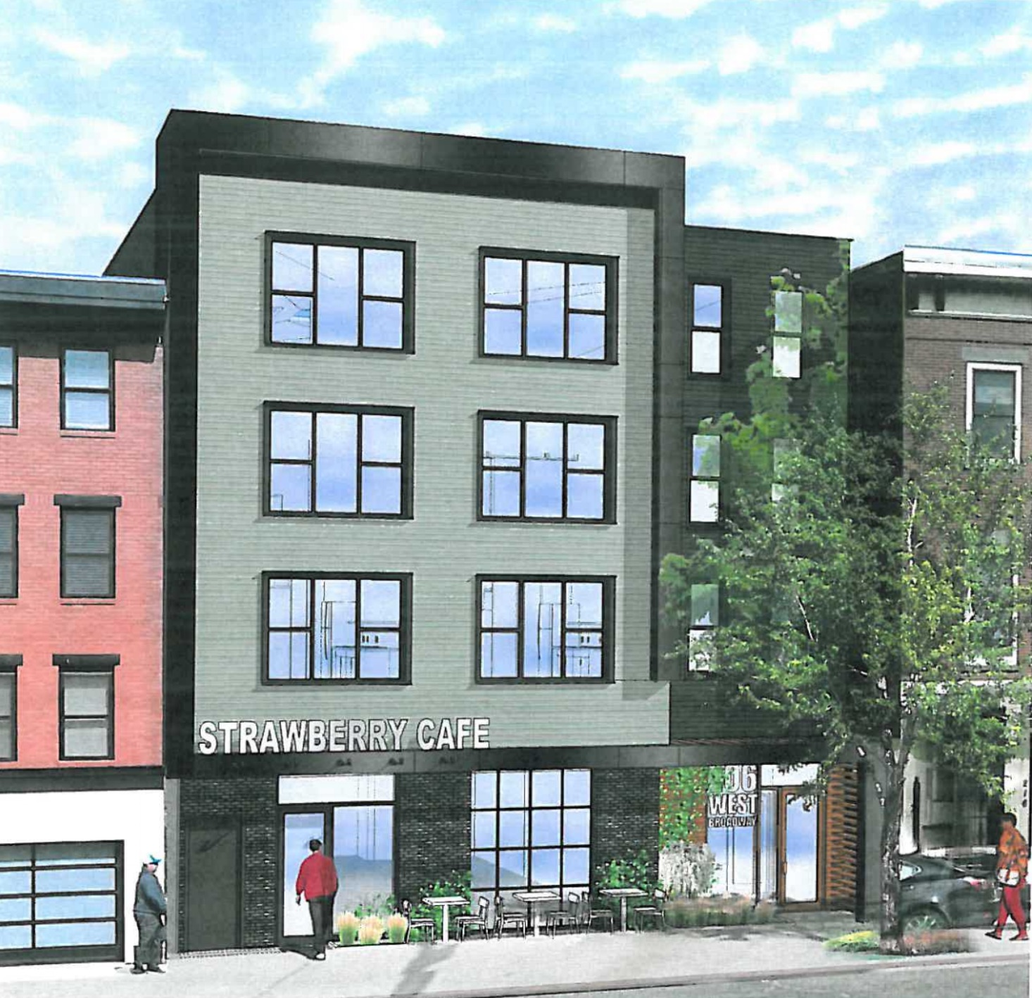 206 west broadway residential retail project south boston neighborhood development corporation caritas communities davis square architects rendering