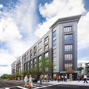 Treadmark ashmont tod2 mixed use residential retail transit oriented mbta development project trinity financial the architectural team rendering