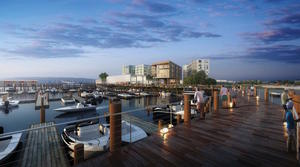 Neponset wharf port norfolk dorchester waterfront marina development project site city point capital condominium residences boutique hotel restaurant cafe