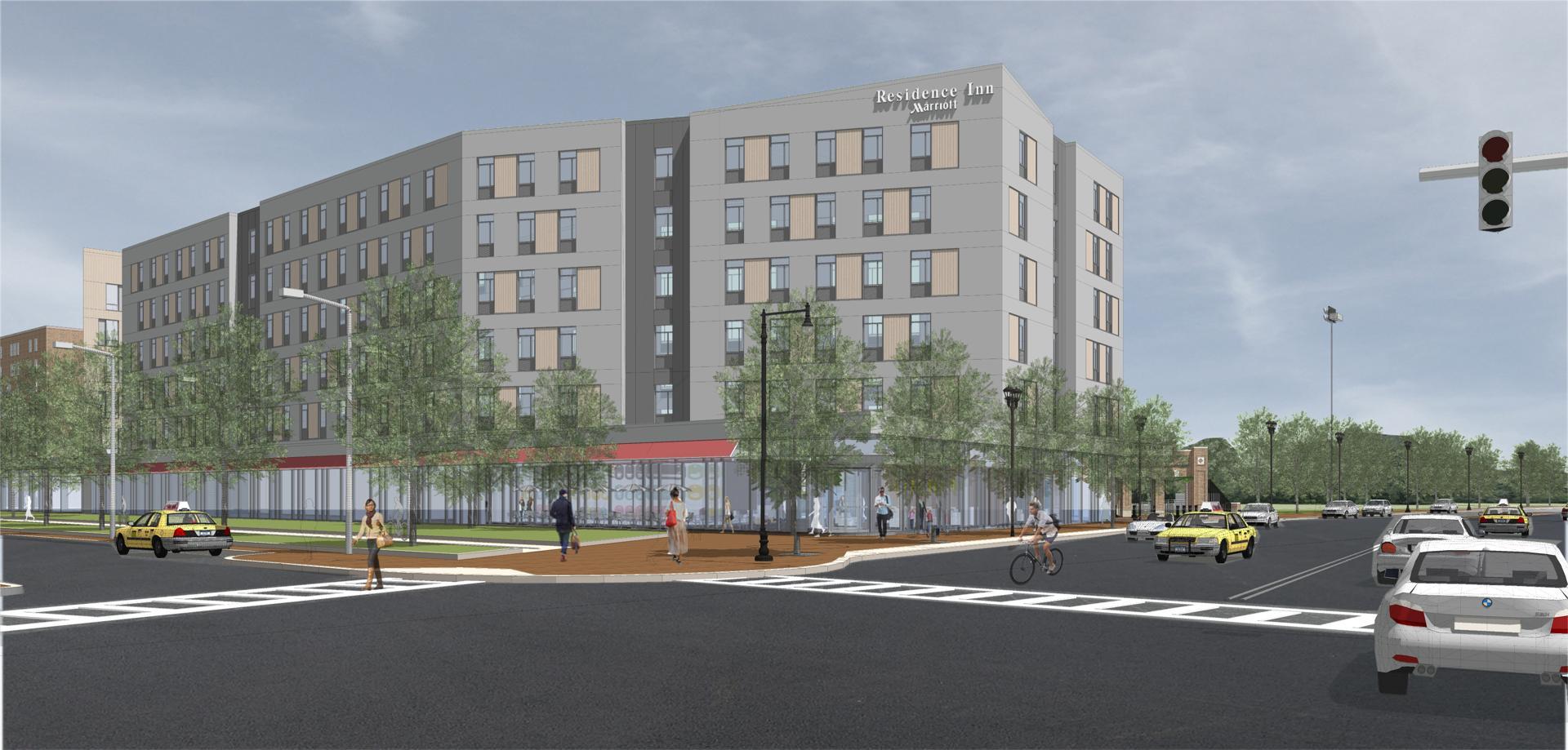 Melnea hotel and residences marriott residence inn washington street melnea cass boulevard boston roxbury urbanica development