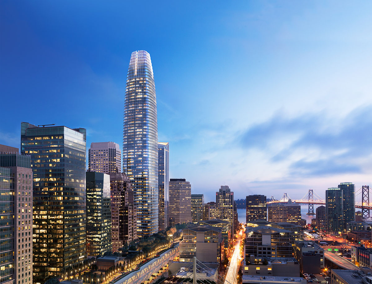 Salesforce tower development san francisco boston properties hines pelli clarke pelli