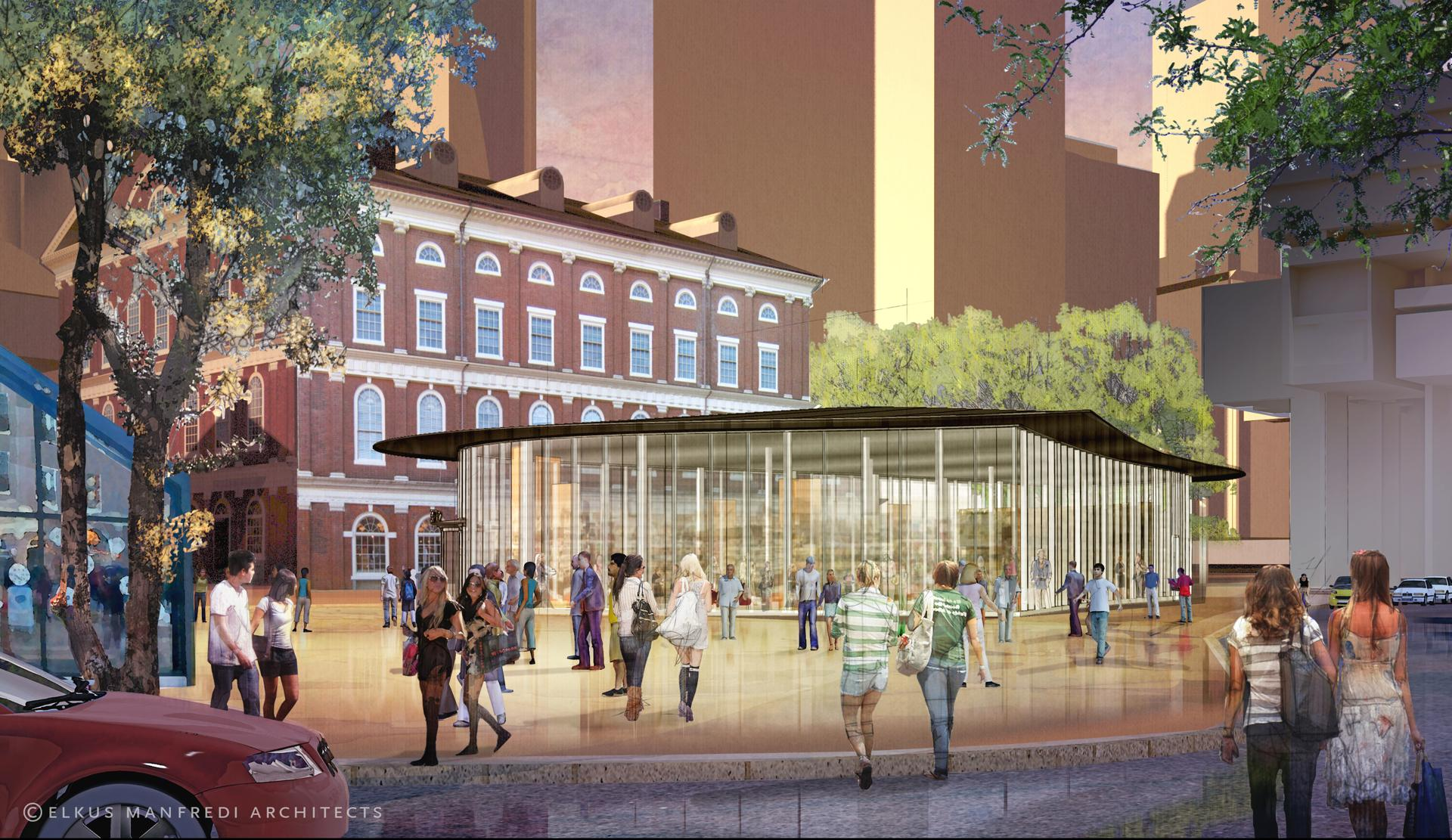 Faneuil hall marketplace pavilion new retail space boston