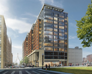 Parcel 1b development affordable residential apartments housing courtyard marriott hotel bulfinch triangle related beal consigli construction
