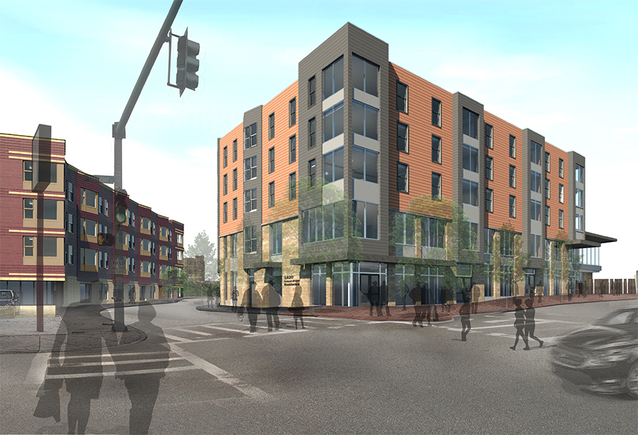 Parcel 25 phase 1a affordable residential office retail development roxbury crossing mbta orange line