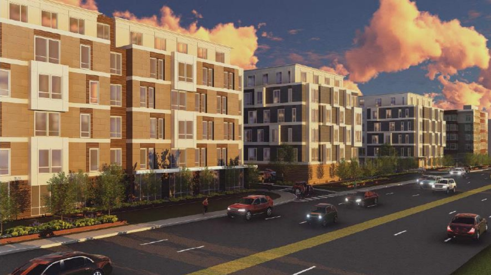 The residences at alewife station criterion development partners bsc group icon architecture rendering