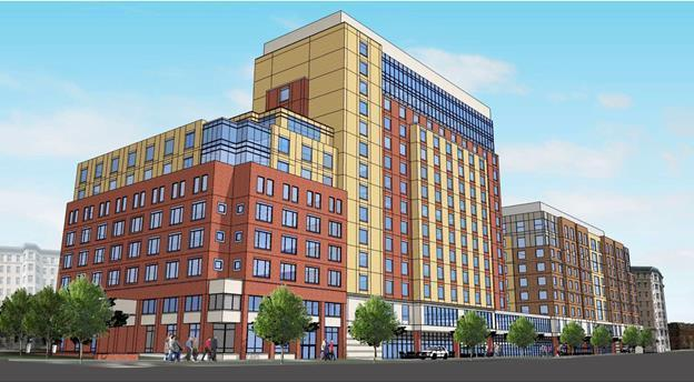 1200 beacon street brookline coolidge corner holiday inn hotel residential retail proposed development the fallon company westbrook partners