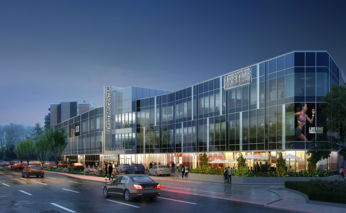 Life time atrium fitness center development chestnut hill newton route 9 bulfinch companies