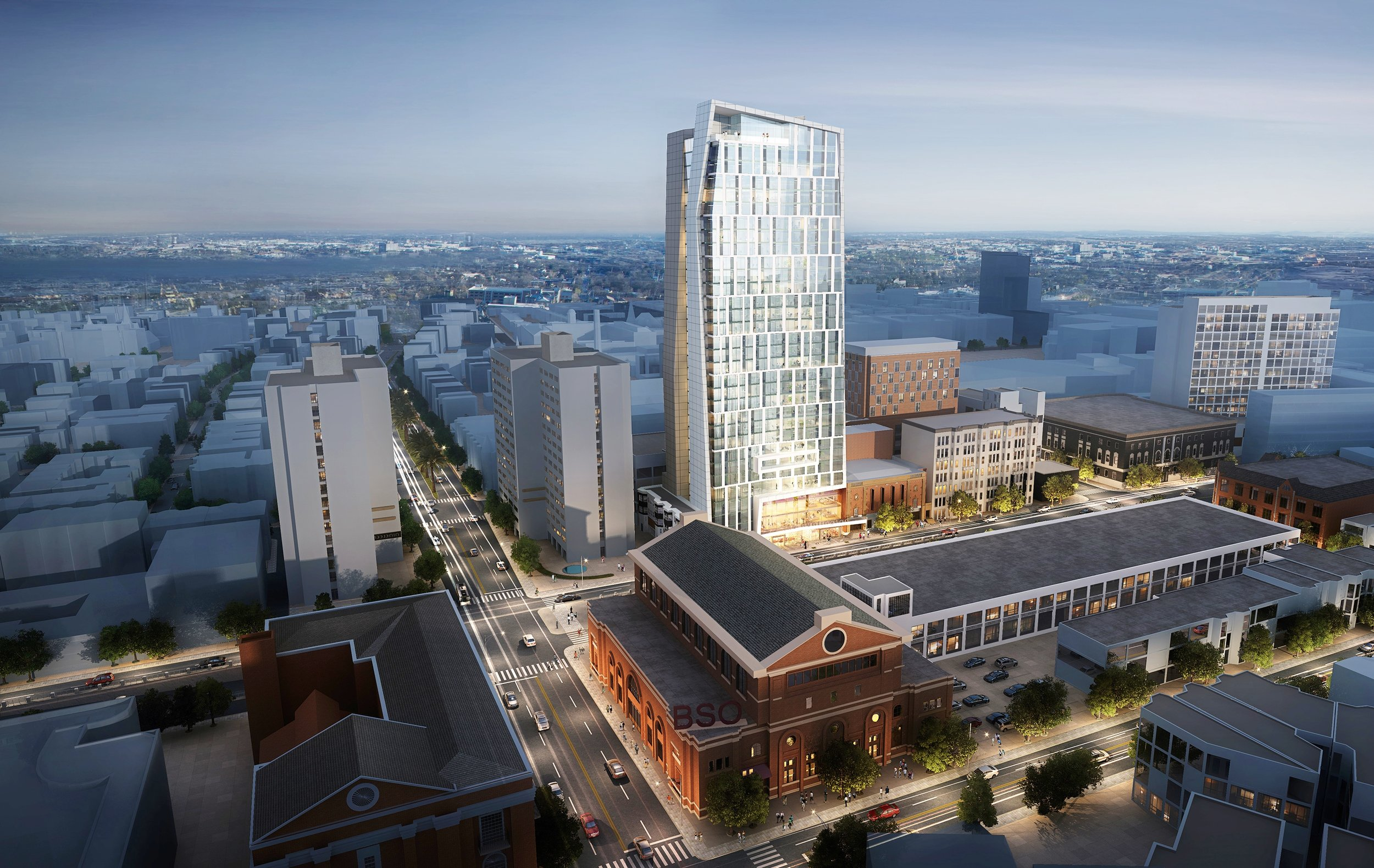 The huntington avenue theater development tower residential retail fenway back bay boston university
