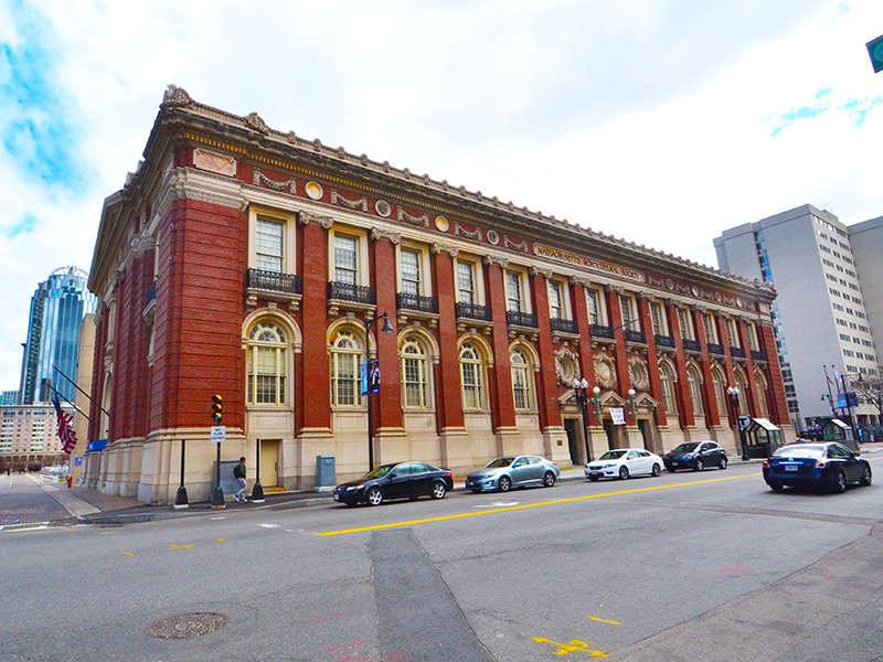 Horticultural hall 300 massachusetts avenue back bay boston office building space historic marcus partners real estate acquisition christian science plaza