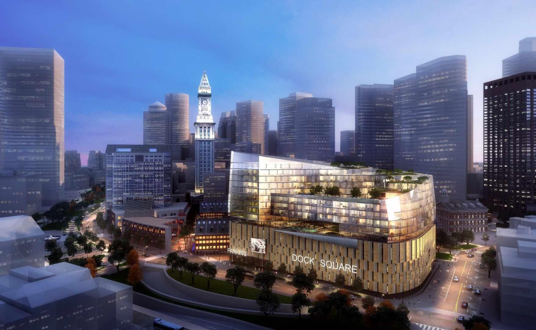 Dock square parking garage real estate development site for sale bulfinch triangle boston