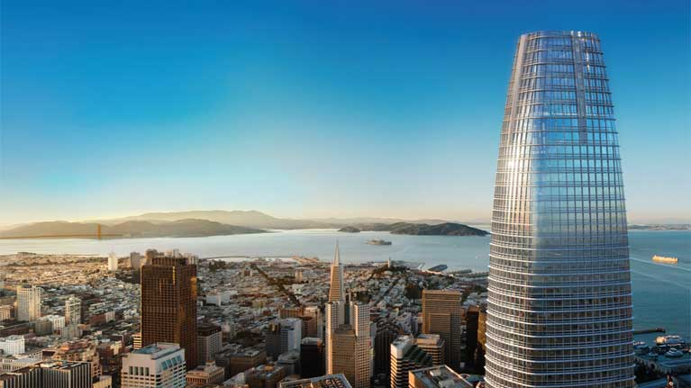 Salesforce tower skyline golden gate 767