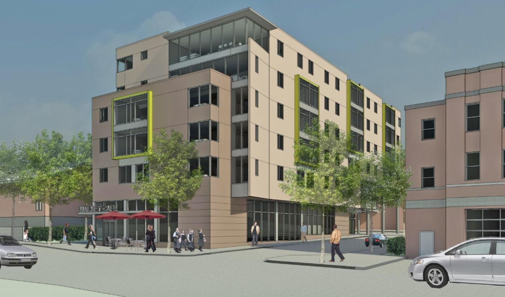 132 chestnut hill avenue residential affordable housing retail development jewish community housing for the elderly
