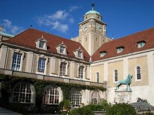 Adolphus busch hall  harvard university  cambridge  ma   courtyard