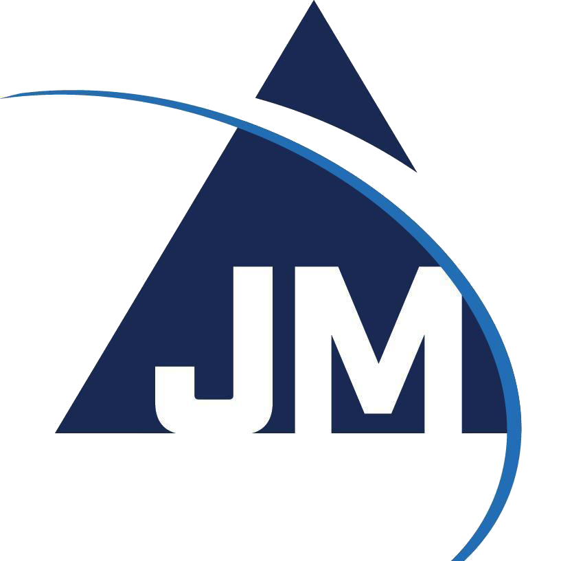 Jm electrical logo white letters