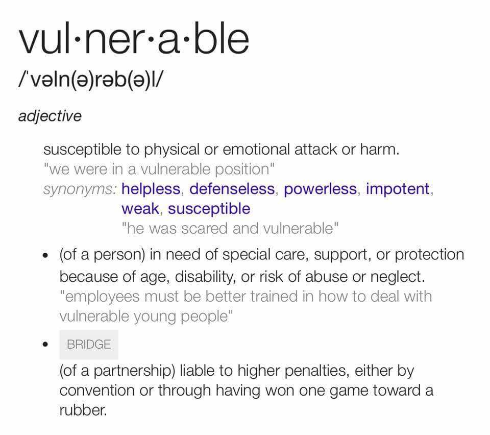 Vulnerable definition.