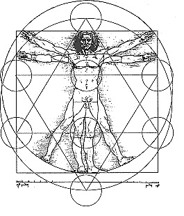Vitruvian Man - Sacred Geometry - Ancient Mystery Schools