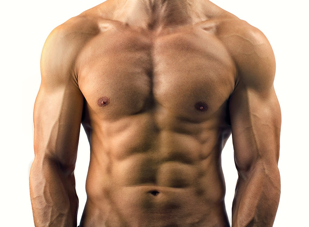 Upperbody picture of shirtless man