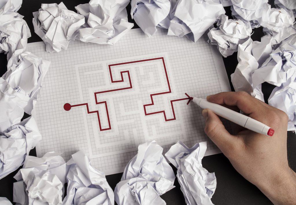 labirinto em um papel
