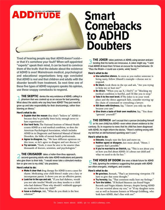 Smart Comebacks to ADHD Doubters (Infograph)